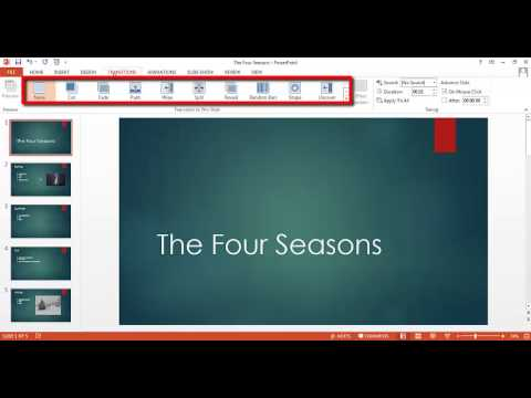 PowerPoint Tutorial 5 of 5 - How to Add Transitions to Your Slides