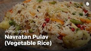 Navratan pulav (vegetable rice) | Indian Food