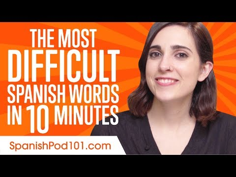 Can You Say These Difficult Spanish Words? - Learn Spanish in 10 Minutes!