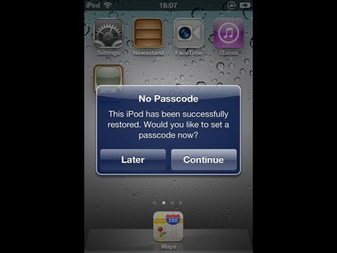 Forgot Ipod Password Ipod touch password Lost How to break ipod touch password Reset Restore IPOD