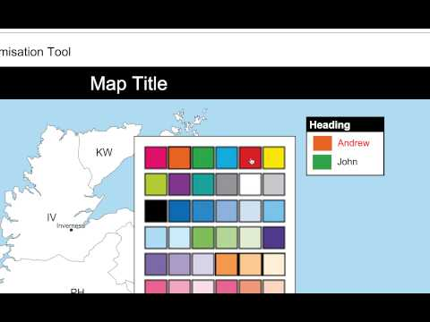 Quick postcode map editing tool example