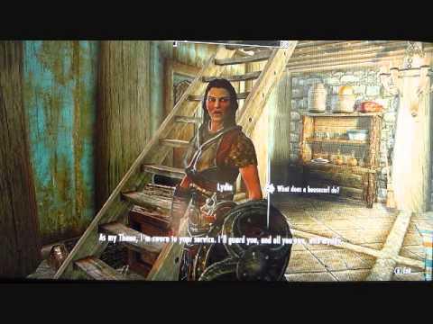 Skyrim Hearthfire: 'Kids' Dialogue with Lydia