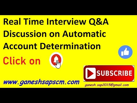 SAP MM Q&A on Automatic Account Determination by Ganesh Padala
