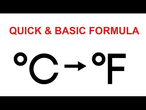 Video Tutorial : How to convert celsius to fahrenheit easily