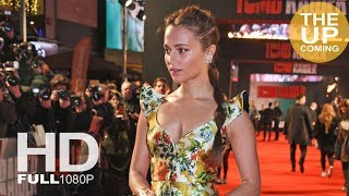 Tomb Raider premiere: Alicia Vikander arrival, photocall and red carpet in London