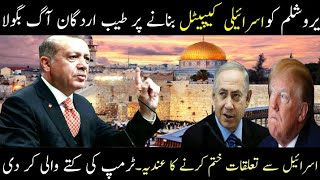 Turkey President Tayyab Urdgan Criticise Donald Trump And Nathanyahu