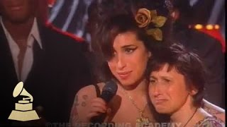 Download Amy Winehouse - accepting Record Of The Year at the 50th GRAMMY Awards | GRAMMYs Video