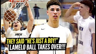 """LaMelo Ball Responds To """"HE'S JUST A BOY"""" Comment By TAKING OVER PLAYOFF GAME & GOING OFF!"""
