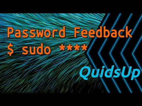 How to Show Asterisks *** on Sudo Password in Linux