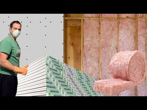 Installing Insulation and Hanging Drywall, Porch Addition Project Vid #11