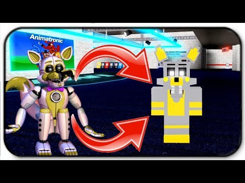 Creating and Becoming Golden Funtime Foxy in Roblox Animatronic World