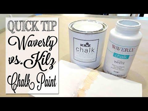 Waverly Chalk Paint vs  Kilz Chalk Paint | Demo & Review