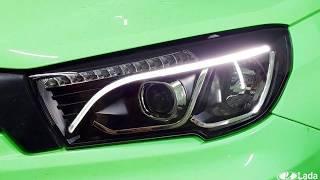 Обзор светодиодных линзованных фар Mercedes Style для Lada Vesta