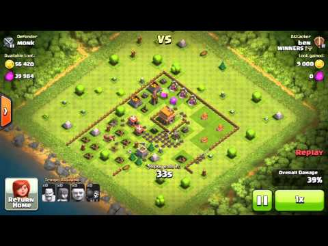 COC Monk V Ben Clash of Clans game play