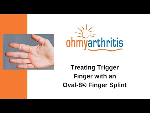 How to treat a Trigger Finger with an Oval-8 Finger Splint