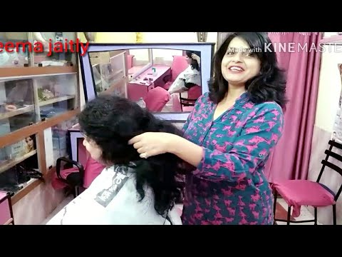 How to cut Frizzy and curly hair💇 How to mange short curly and frizzy hair seema jaitly