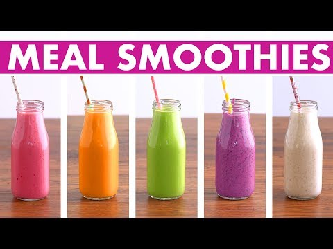 5 Healthy Meal Replacement Smoothies Recipes - Fruit, Veggies, Protein - Mind Over Munch