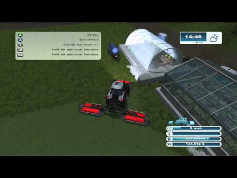 Farming Simulator 2013 Xbox 360 Lets Play ep.28 cutting the grass and a new trailer