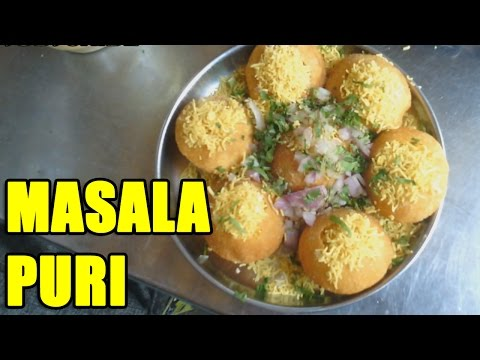 How to make masala puri in Indian Street Food way