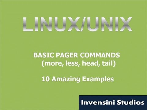 Linux Basic Pagers Commands