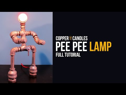 DIY Galvanized Pipe Lamp Industrial Design Water Valve Light Switch Tutorial