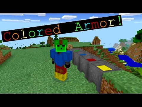 Minecraft PE: How to Change Your Armor Color! (Leather Only)