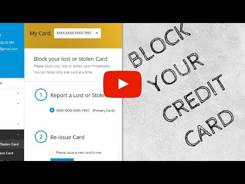 HOW TO BLOCK YOUR LOST CREDIT CARD | SBI