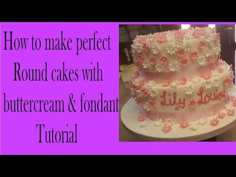 upside down buttercream and fondant method, sharp cake edges