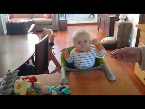 Baby June tastes kefir