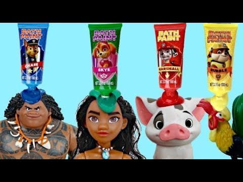 MOANA Deluxe Adventure Set with Paw Patrol Bath Paint   Toys Unlimited