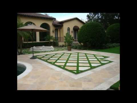 formal lawn paving steppers