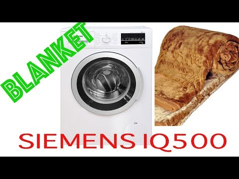 Siemens Washing Machine IQ500 Blanket Wash part-1
