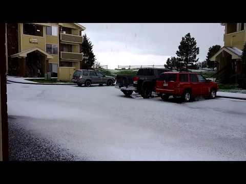 Colorado Springs 45 minute hail storm