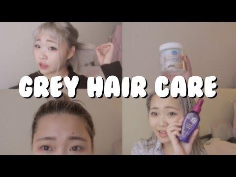Minimal Damage BLEACHING HAIR & Taking Care of Grey Hair
