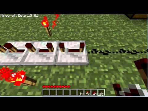 Minecraft Tutorial - Redstone Repeaters and Note Blocks