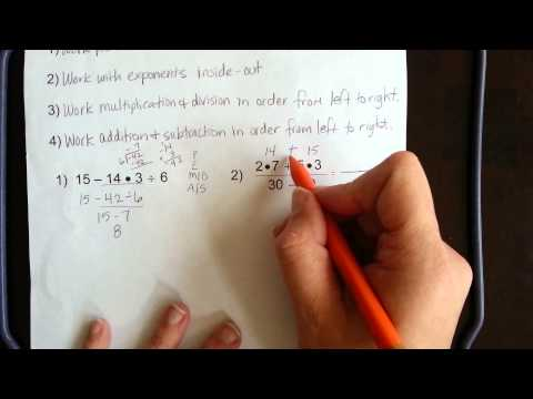 A1-1 notes on Order of Operations