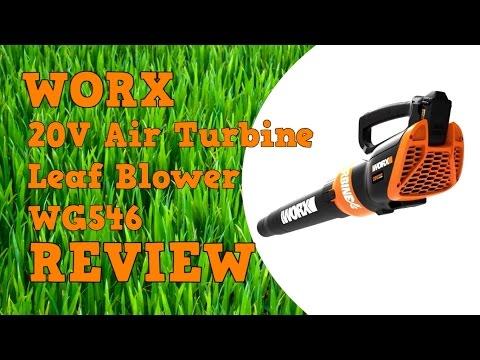 Worx 20V Air Turbine Leaf Blower WG546 Review