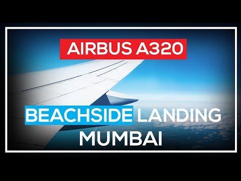 Airbus A320 Beachside Landing at Mumbai Intl. (VABB)