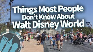 Things Most People Don't Know About Walt Disney World!