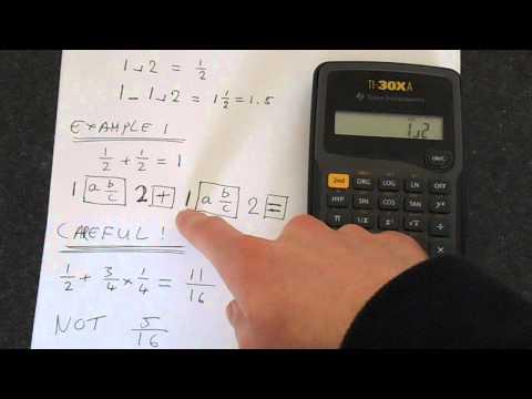 TI-30Xa: Fractions