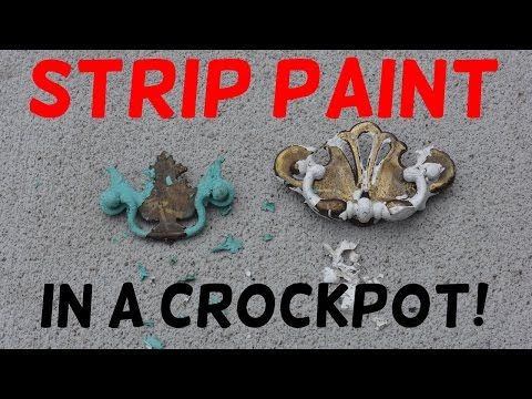 How to Strip Paint in a Crockpot!