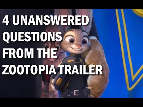 Four Unanswered Questions from the Zootopia Trailer