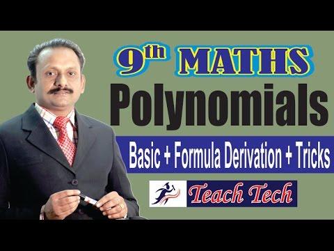 9th CBSE, NCERT Maths, Basic Tricks Polynomial