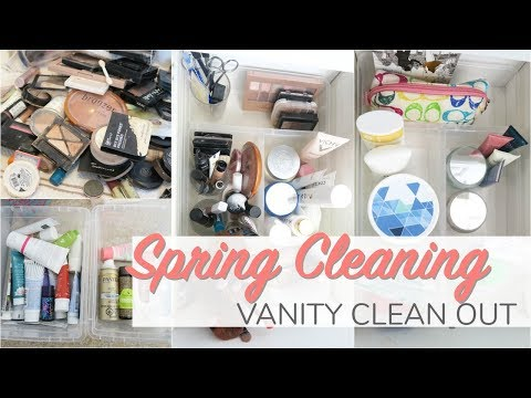 Spring Cleaning 2018   Cosmetics - KonMari Declutter, Cleaning & Organization