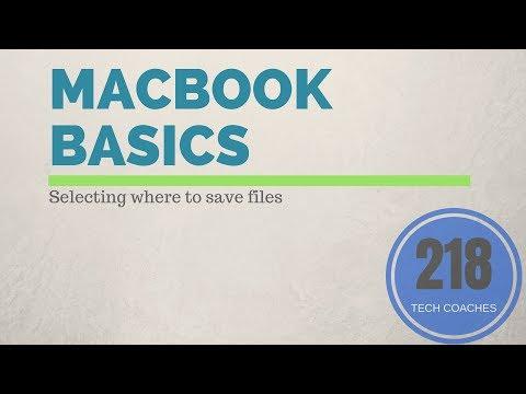 Macbook Basics: Save Settings