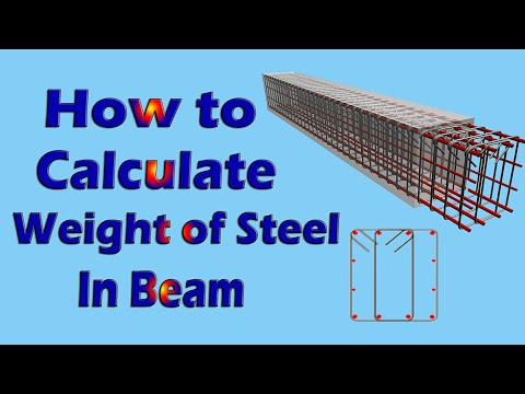 How to calculate weight of steel in Beam