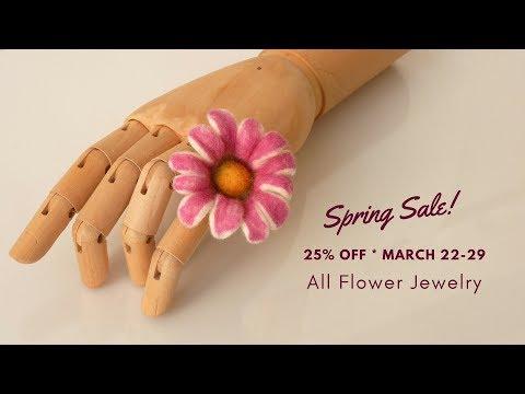 Felt Flower Ring/Flower Brooch Tutorial/DIY - Spring Sale