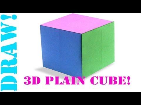 Origami Daily - 426: 3D Plain (Basic) Cube (Hexahedron) - TCGames [HD]