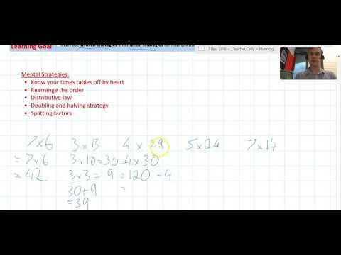 Multiplication Mental Strategies