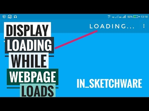 Display 'Loading..' while the webpage is loading